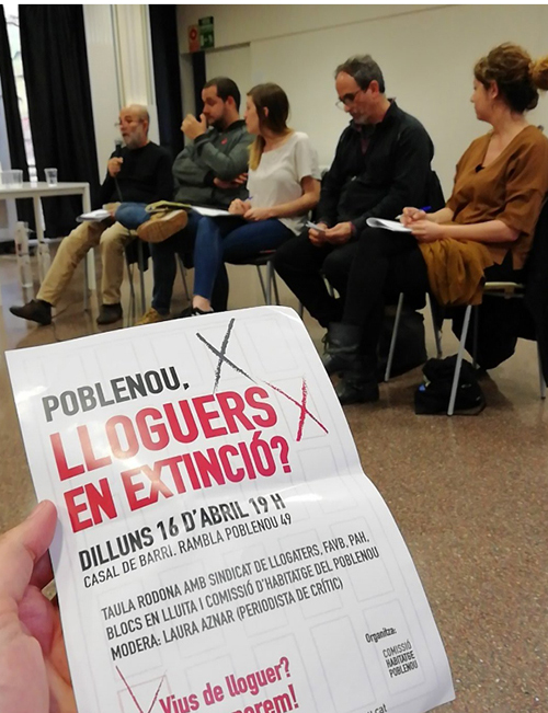 Assembly of the Comissió d'Habitatge del Poblenou (5th April, 2016)